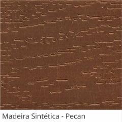Persiana Horizontal Madeira Coleção Sintética 50mm Com Ranhuras Cor Pecan
