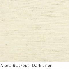 Cortina Rolô Natural Tecido Blackout Coleção Viena Cor Dark Linen