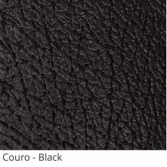 Persiana Vertical Preta PVC Coleção Couro Cor Black