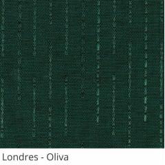 Persiana Vertical Verde Escuro Tecido Translúcido Coleção Londres Cor Oliva