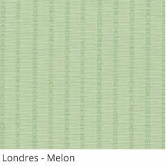 Persiana Vertical Verde Tecido Translúcido Coleção Londres Cor Melon