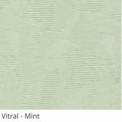 Persiana Vertical Verde Tecido Translúcido Coleção Vitral Cor Mint