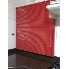 Persiana Horizontal Alumínio Vermelha Coleção 25mm Cor 020