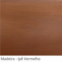 Persiana Horizontal Pvc Madeira com Fita Decorativa