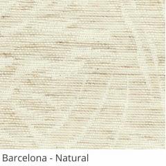 Cortina Romana Natural Tecido Translúcido Coleção Barcelona Cor Natural