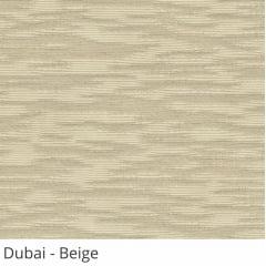 Cortina Romana Bege Tecido Translúcido Coleção Dubai Cor Beige