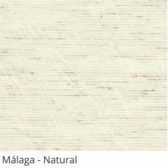 Cortina Romana Natural Tecido Translúcido Coleção Malaga Cor Natural