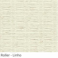 Cortina Romana Natural Tecido Translúcido Coleção Roller Cor Linho