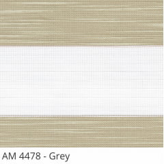 Cortina Rolô Double Vision Marrom Tecido Translúcido Coleção AM 4478 Cor Grey