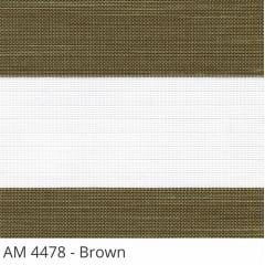 Cortina Rolô Double Vision Marrom Tecido Translúcido Coleção AM 4478 Cor Brown
