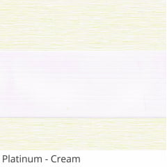 Cortina Rolô Double Vision Tecido Platinum
